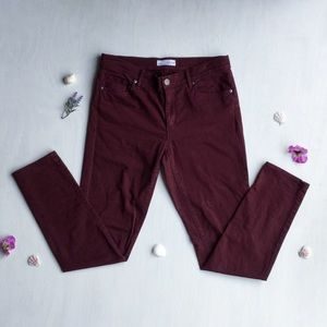 LOFT - Burgundy, Mid-Rise, Skinny Pants
